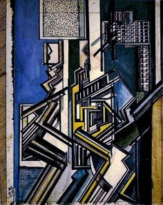 ✨From Deco to Atom✨ Wyndham Lewis, Futurism Art, Year 9, Illustration Art, Illustrations, Geometric Art, Picasso, Compost, Architecture Art