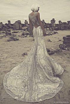 julia kontogruni 2015 beaded wedding dress illusion back view