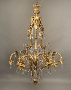 Fine Early Century Gilt Bronze and Crystal Eleven-Light Chandelier Baccarat Chandelier, Chandelier Centerpiece, Italian Chandelier, Bronze Chandelier, Antique Chandelier, Antique Lamps, Antique Lighting, Chandeliers, Chandelier Lighting