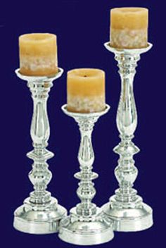 Polished Aluminum Metal Vase Beautiful Candle Holders For Any Event or Home