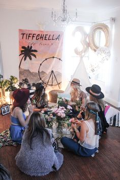 How to Have a Coachella Themed Party— Tiffchella 2018 Cochella Theme Party, Coachella Party Theme, Coachella Birthday, 30th Birthday Themes, 13th Birthday Parties, 25 Birthday, Mean Girls Party, Fun Party Themes, Party Ideas