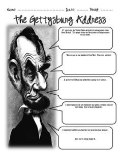 In this activity students will read and interpret the Gettysburg Address.