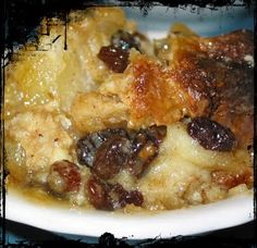 Our family attic.: ♥Grandma's Creamy Bread Pudding♥ This stuff will make you swoon! Sweet Desserts, Just Desserts, Sweet Recipes, Delicious Desserts, Dessert Recipes, Yummy Food, Plum Recipes, Diabetic Desserts, Dessert Sauces
