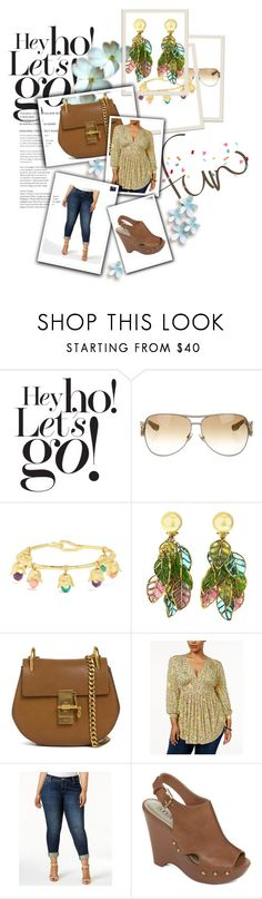 Summer 2017 by tamtx on Polyvore featuring Melissa McCarthy Seven7, KUT from the Kloth, A.N.A, Chloé, Aurélie Bidermann, Gucci, Damaris and plus size clothing