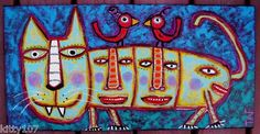 """""""We Live In The Belly of This Beast"""" acrylic on canvas....just purr-fect....."""