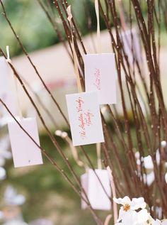 Pretty Pink Dogwood Wedding in Napa - Reception,  Decor,  Stationery