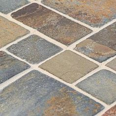 Jeffrey Court Rust Block Medley 12 In X 8 Mm Slate Mosaic Wall Tile 99124 At The Home Depot Mobile