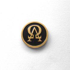 Alpha Omega Enamel Pin by Bird Ov Prey