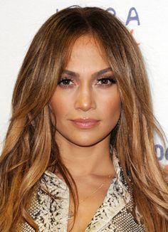 Jennifer Lopez - caramel brown highlights