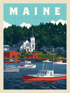 Anderson Design Group – American Travel – Maine: Vacationland
