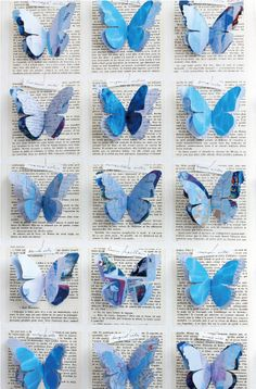 Butterfly papers - keep the print background and try to frame it somehow  pretty butterfly
