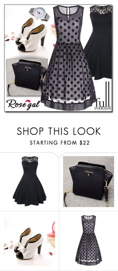 """""""Rosegal 47"""" by fashion-with-lela ❤ liked on Polyvore featuring vintage, cute, lace, polkadot and sweetstyle"""