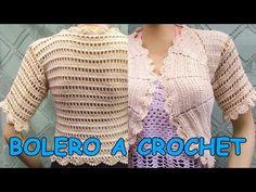Bolero tejido a crochet o ganchillo paso a paso, fácil de tejer - YouTube