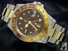 Rolex Gold/ss Stainless Gmt-master Date Watch High End Watches, Rolex Gmt Master, Brown Beige, Root Beer, Stainless Steel Case, Gold Watch, Rolex Watches, 18k Gold, Dating