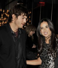 "Demi Moore and Ashton Kutcher Photos - Actors Ashton Kutcher (L) and Demi Moore arrive at Bally's ""Hollywood Domino"" party to benefit The Art of Elysium at the Andaz Hotel on February 20, 2009 in West Hollywood, California.  (Photo by Kevin Winter/Getty Images) * Local Caption * Ashton Kutcher;Demi Moore - Bally's ""Hollywood Domino"" Party To Benefit The Art Of Elysium"