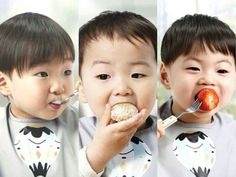 They're the famous Song Triplets. They enjoy eating! Cute Kids, Cute Babies, Superman Kids, Korean Tv Shows, Man Se, Song Daehan, Song Triplets, Cute Songs, Korean Babies
