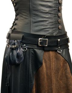 """2.5"""" Ladies Elite Warrior Belt, by Ravenswood Leather. Works excellently with long shirts and dresses, and distributes weight across the hips better than an ordinary belt. Would look excellent with the Short Ranger Dress."""