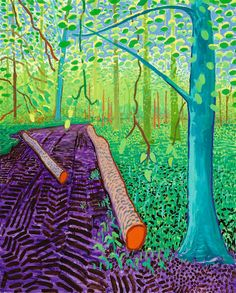 David Hockney - This a very abstract painting because of the very bright colours and strange shapes of the logs. I really like the bright colours as it really draws you into it.