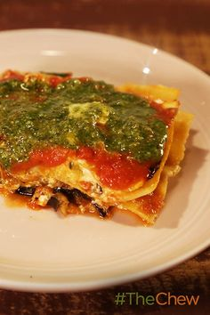 Don't miss out on making Daphne's amazing Eggplant & Zucchini Lasagna vegetarian take on a traditional lasagna.