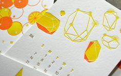 Pivot Interiors 2013 Letterpress Calendar « Beast Pieces