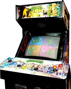 Teenage Mutant Ninja Turtles arcade game, the Ame's store had one, i always begged my mom for quarters to play it.