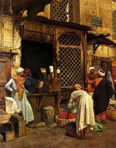 """""""Sharia EL Sanadkyeh, Cairo 1889, by Ludwig Deutsch"""