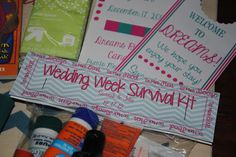 Welcome to Mexico favours for destination wedding