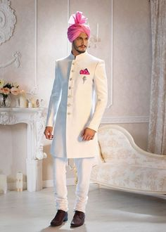 wedding suits Indian wedding dress that every groom will ever want for the most valuable day of his life sherwani for groom for wedding,reception,sangeet Wedding Dresses Men Indian, Groom Wedding Dress, New Wedding Dresses, Wedding Suits, Wedding Reception, Trendy Wedding, Wedding Ideas, Wedding Simple, Indian Weddings