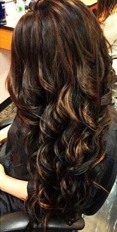 8.Long Dark Brown Hair