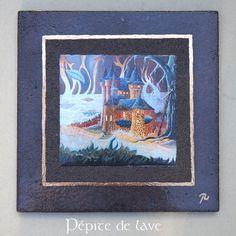 Tableau Château de Val en lave émaillée de volvic : Décorations murales par pepite-de-lave