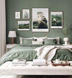 Décoration murale écossaise affiches nature intérieurs vert cadres en noyer - Inspiration Décoration Murale - Posterstore.fr
