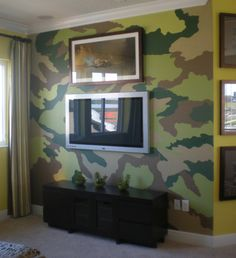 Camouflage Wall #wallpainting #homemural