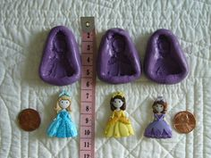 Princesses 3 pcs Food Safe Silicone Mold for cake fondant,gum paste,chocolate,candy, sugar crafts,butter and more by MoldCreationsNmore on Etsy.com www.etsy.com/..