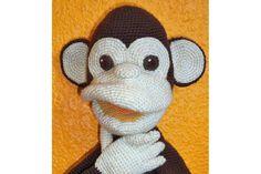 Affe Handpuppe - ein Designerstück von michi-h-art bei DaWanda