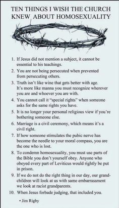Homosexuality and religion this seems maybe by a christian author, but I dig this person they seem tolerant. Thanks (y)