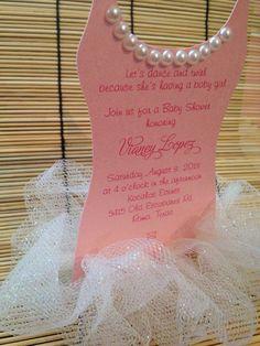 Tutu Baby shower invitation