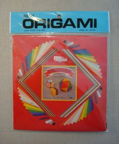 Aitoh Origami Papers Japan 60 Sheets 3 Sizes 1 Gold 1 Silver NIP Sealed #Aitoh