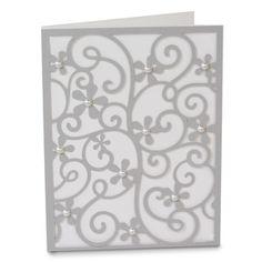 Silhouette Design Store - View Design #133580: a2 filigree floral card
