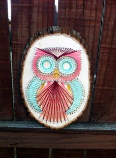 Original String Art Owl Design by CraftsByBliss on Etsy