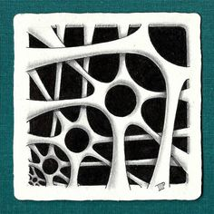 My fractal Membranart. This is my first post in two FB grups (Square one purely zentangle and Shading and exploring Zentangle) I had to…