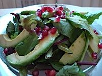 The Best Avocado and Pomegranate Salad With Cumin-Lime Vinaigrette: A lime-cumin vinaigrette perfectly complements greens topped with mellow avocado and juicy pomegranate.