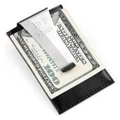 2625b65b4fd5 Personalized Leather Money Clip and Credit Card Holder