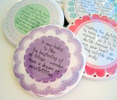 Baby Shower Favors  Quotations  2.25 Inch by StuckTogetherMagnets, $40.00