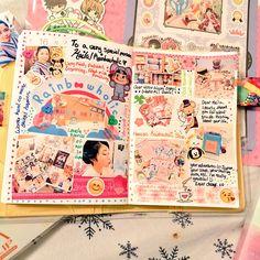 Hobonichi & Shop Updates + Traveler's Factory + Bunbougu Cafe ☕ (Rainbowholic) Bullet Journal Notebook, Bullet Journal Ideas Pages, Bullet Journal Inspiration, Book Journal, Scrapbook Letters, Bujo, Cute Journals, Bullet Journal Aesthetic, Maila