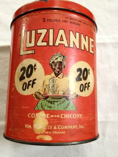 Antique Hunter: Vintage Luzianne Coffee and Chicory Tin
