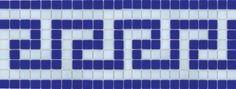 Patterned Glass Mosaic Waterline tiles for Swimming Pools
