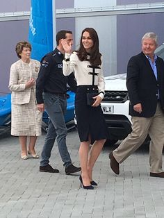 The Duchess of Cambridge arriving in Portsmouth wearing McQueen for @1851Trust