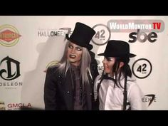 Exclusive: Adam Lambert and boyfriend Sauli Koskinen attend Fred and Jason's 7th Annual Halloween party benefiting AMP & GMCLA on Friday Oct 26, 2012 at The Lot in Hollywood, CA, United States.