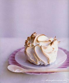 Meringue encased lemon cakes. A twist on classic lemon meringue pie.meringue