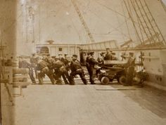 Positioning the cannon - Naval Training Ships for Manchester Boys